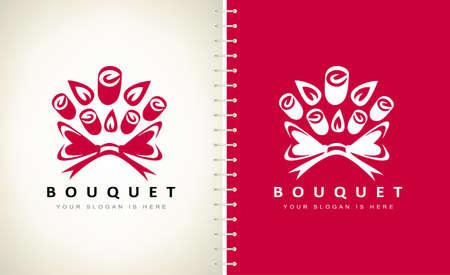 Bouquet of flowers logo vector design Ilustracja