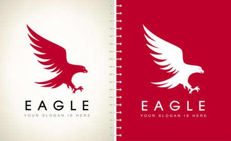 Eagle logo bird vector. Animal design.