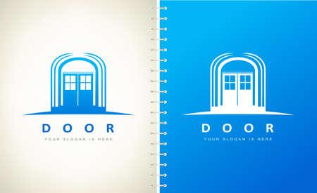 Door logo vector. Exterior design.