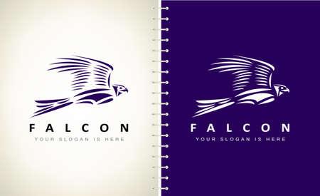 Falcon logo vector. Bird design.