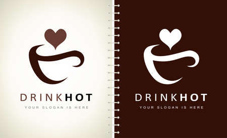 Coffee cup logo. Cup logo vector. Dishes for hot drinks. Logo design vector illustration.