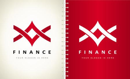 Two arrows. Finance logo vector. Ilustracja