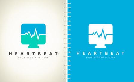 heartbeat logo vector. Logo design. Ilustracja