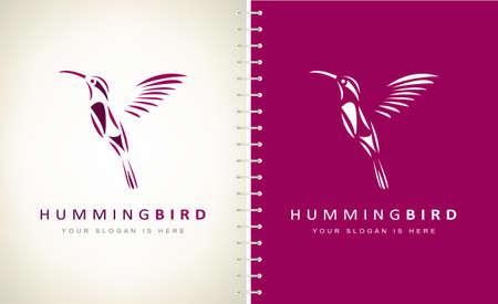 Hummingbird Logo Vector. Bird design.