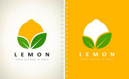 Lemon logo vector. Fruit design. Ilustracja