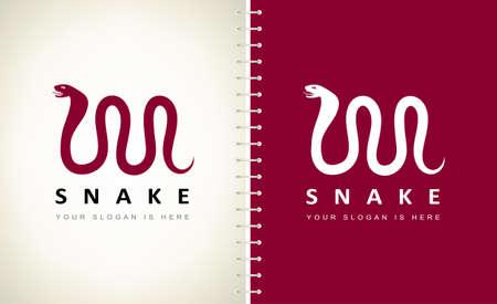 snake logo vector. Design vector illustration. Ilustracja