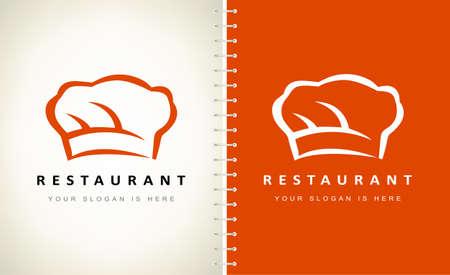 Restaurant logo design. Chef hat logo vector.