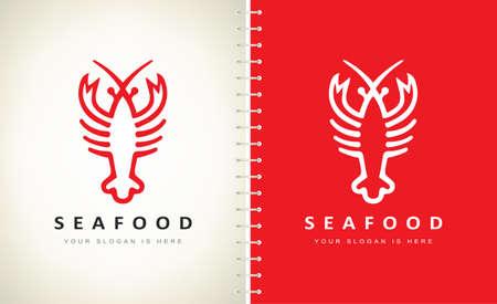 Lobster logo vector. Seafood design