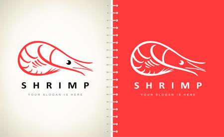 Shrimp logo vector. Logo design.