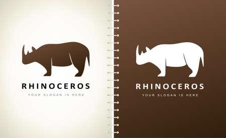 rhinoceros logo vector. Animal Design.
