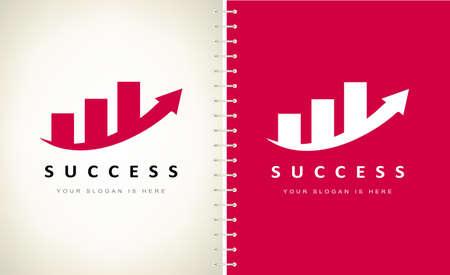 diagram logo vector. Financial success design.