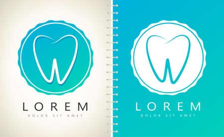 Tooth logo vector. Dentistry design.