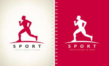 Sport logo vector. Running Man.