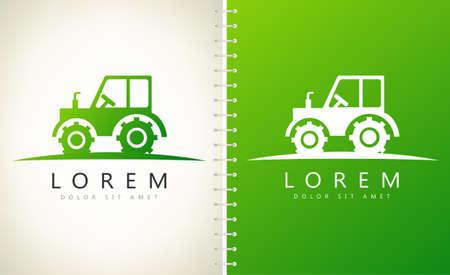 tractor logo agricultural auto vector