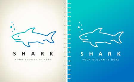 Shark logo vector. Fish animal design. Ilustracja
