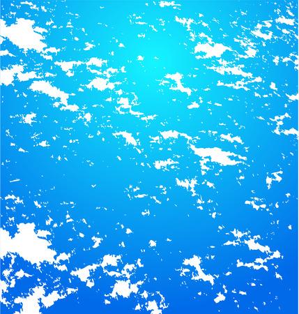 urban sprawl: blue abstract