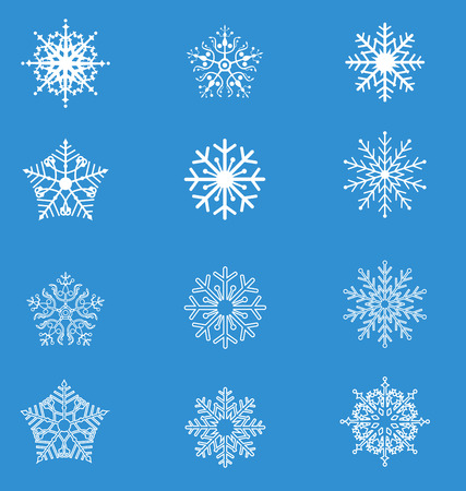 schneeflocke: Schneeflocke Illustration