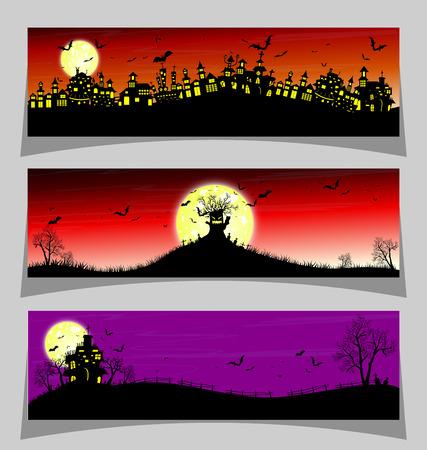horror castle: Happy Halloween Illustration
