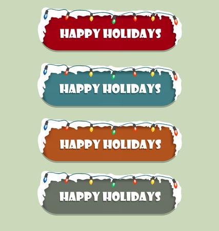 happy holidays: Happy Holidays Sign