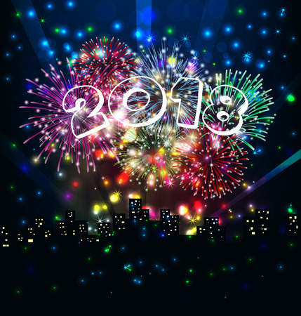 new year s eve: happy new year with firework