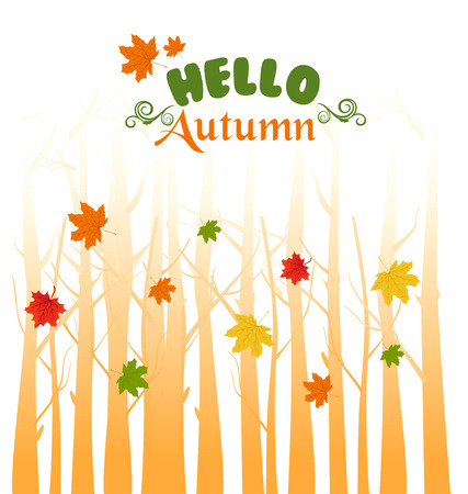 background herfst: herfst achtergrond Stock Illustratie