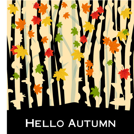 green floral: autumn background Illustration