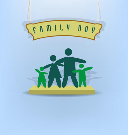 Happy Day Family Stock Illustratie
