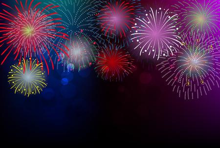 Gelukkig Nieuwjaar vuurwerk 2017 vakantie achtergrond ontwerp