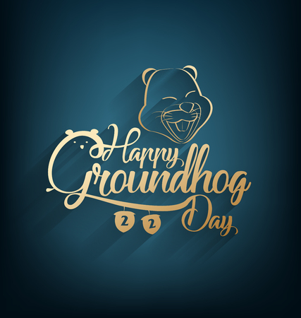Happy Groundhog Day Illustration