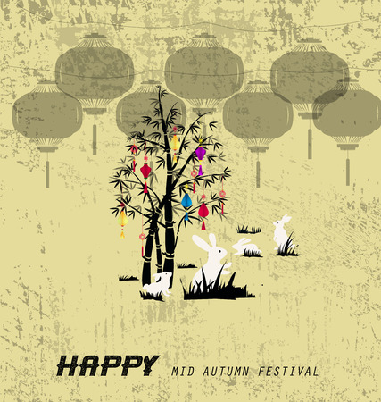 happy mid autumn festival Stock Vector - 81868333