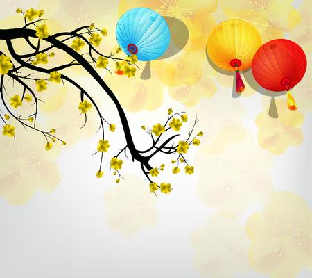 Kersenbloesem voor Chinees Nieuwjaar en het nieuwe maanjaar