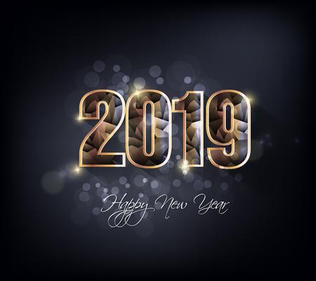 Feliz año nuevo 2019. Año nuevo chino. Año del cerdo Foto de archivo - 105343088