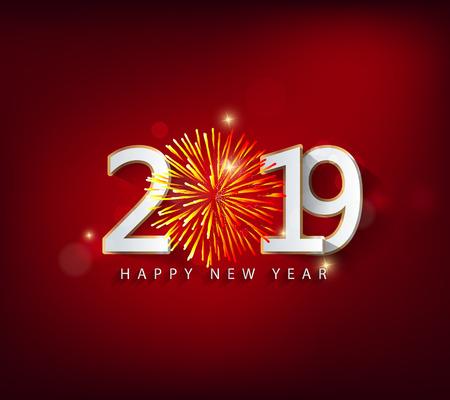 Feliz año nuevo 2019. Año nuevo chino. Año del cerdo Ilustración de vector