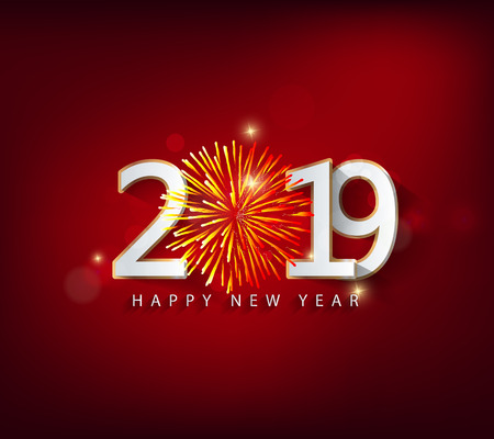 Happy new year 2019. Chinese new year. Year of the pig Çizim