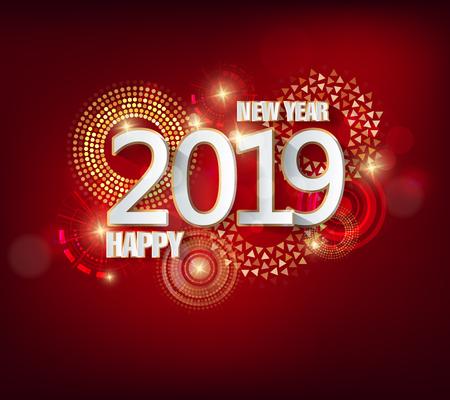 Gelukkig nieuwjaar 2019. Chinees nieuwjaar. Jaar van het varken