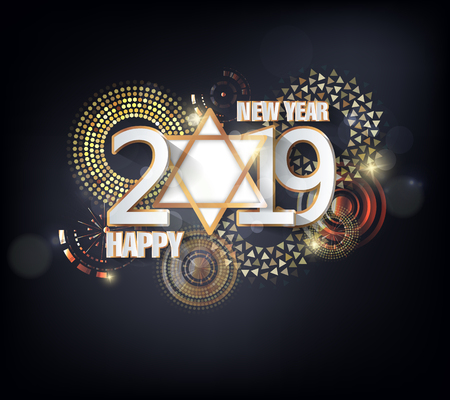 Happy new year 2019. Chinese new year. Year of the pig Illusztráció