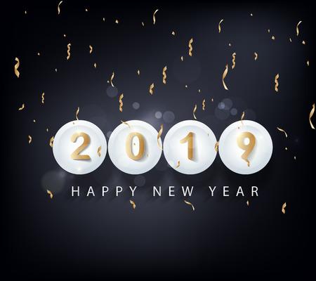 Szczęśliwego nowego roku 2019. Chiński nowy rok. Rok świni