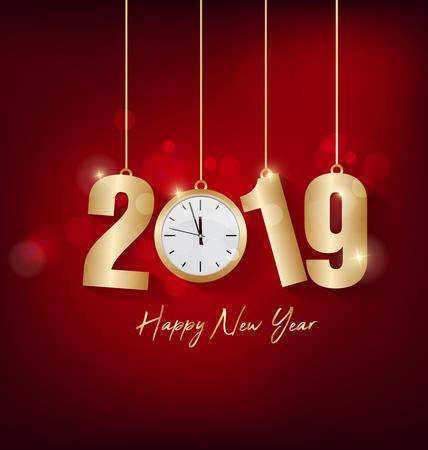 Happy new year 2019 Vectores
