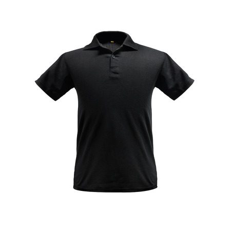 Black fashion polo shirt template on isolated background with clipping path. 免版税图像