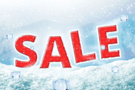 Winter sale poster background. Christmas banner for discount your product.