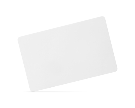 Blank card isolated on white background. Blank name tag for design. ( Clipping path ) Stockfoto