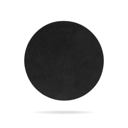 Round coaster on isolated background with clipping path. Blank cup pad for montage or your design.