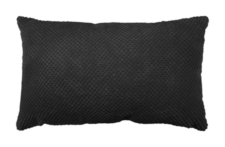 Black pillow isolated on white background. Soft cushion in modern style. ( Clipping path )