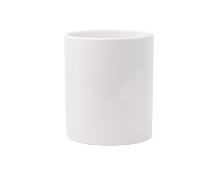 White mug on isolated background with clipping path. Blank drink cup for your design. Stok Fotoğraf