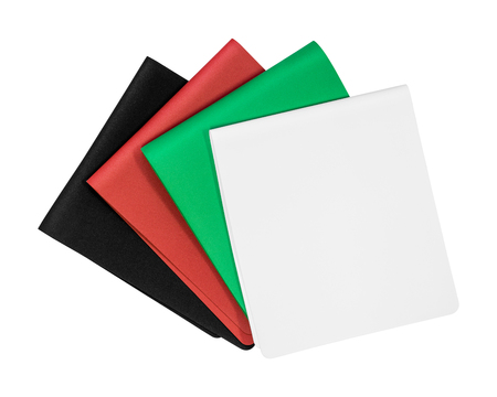 Colors foam board isolated on white background. Empty rubber sheet. ( Clipping path )