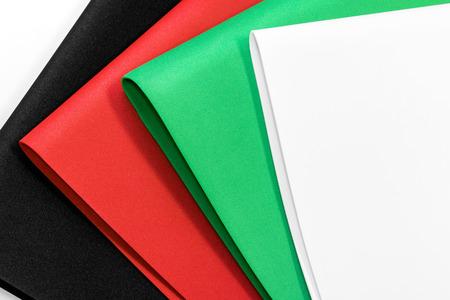 Colors foam board background. Empty rubber sheet. Stock Photo