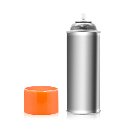 Spray paint bottle isolated on white background. Empty object for design. ( Clipping path )