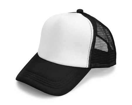 Black cap isolated on white background. Fashion hat for design. ( Clipping path )