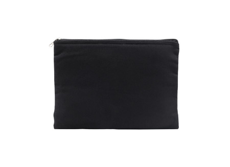 Black canvas bag for shopping on isolated background Stock Photo