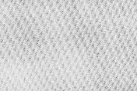 Leinen Textur Hintergrund. Oberfläche aus weißem Textilgewebe.